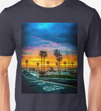 Winter's Sunset Approaching Storm Unisex T-Shirt