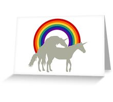 Unicorn Under the Rainbow Greeting Card