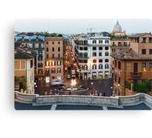 Via Condotti Waking Up - Impressions Of Rome Canvas Print