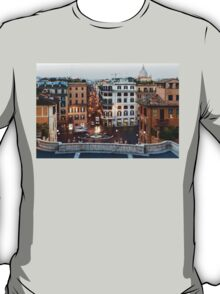 Via Condotti Waking Up - Impressions Of Rome T-Shirt