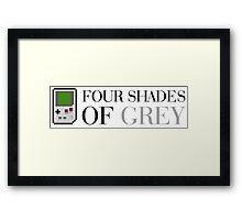 Game Boy - Four Shades of Grey Framed Print
