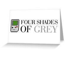 Game Boy - Four Shades of Grey Greeting Card