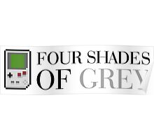 Game Boy - Four Shades of Grey Poster