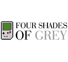Game Boy - Four Shades of Grey Photographic Print