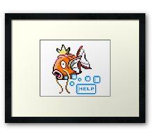 Magikarp Help! Framed Print