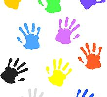 Colorful handprints by muli84