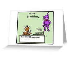 A Wild Bonnie Appeared! Greeting Card