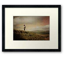 The girl of cold fell III Framed Print