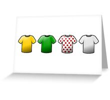 tour de france jerseys Icons Greeting Card