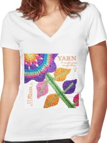 All You Need Is...Yarn! Women's Fitted V-Neck T-Shirt