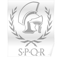 Laurel wreath and helmet SPQR Rome Poster