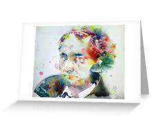 BAUDELAIRE - watercolor portrait Greeting Card