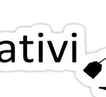 creativi-tea tea based puns Sticker