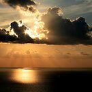 Golden Spirit Over Haifa Bay by Nira Dabush