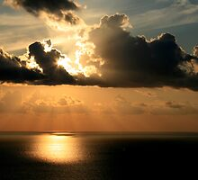 Golden Spirit Over Haifa Bay by Nira Dabush
