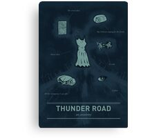 Thunder Road: An anatomy Canvas Print