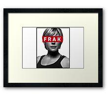 Starbuck - Frak - Battlestar Galactica Framed Print