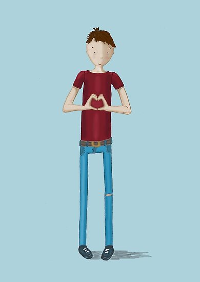 Hand heart boy by Kate Kingsmill