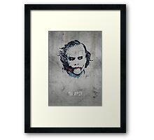 The Joker. Framed Print