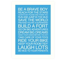 Little Boys Rules. Art Print