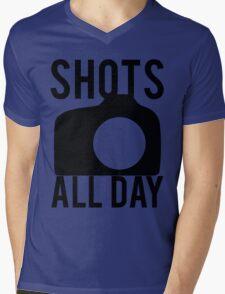 Shots All Day. Camera Mens V-Neck T-Shirt