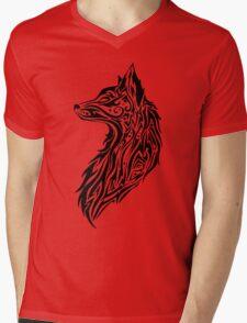 Tribal Fox Mens V-Neck T-Shirt