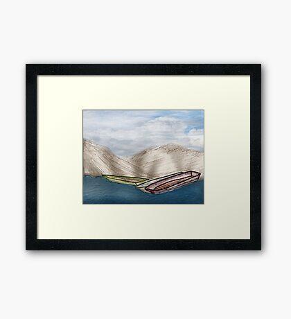 Boats on the Beach Framed Print