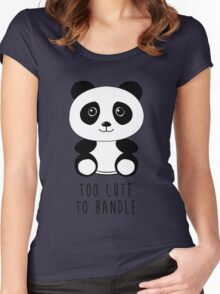 Too cute to handle panda Women's Fitted Scoop T-Shirt