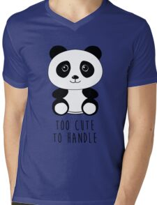 Too cute to handle panda Mens V-Neck T-Shirt