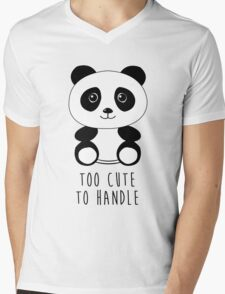 Too cute to handle panda Mens V-Neck T-Shirt