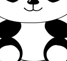 Too cute to handle panda Sticker