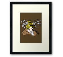 Arrow To The Knee Framed Print