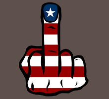 Middle finger USA Unisex T-Shirt