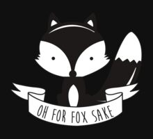 Oh For Fox Sake - Black And White Kids Clothes