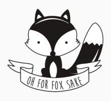 Oh For Fox Sake - Black And White Kids Tee