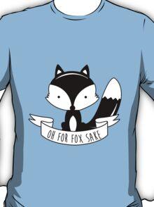 Oh For Fox Sake - Black And White T-Shirt