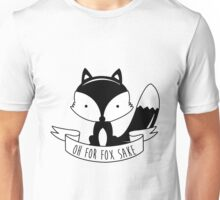 Oh For Fox Sake - Black And White Unisex T-Shirt