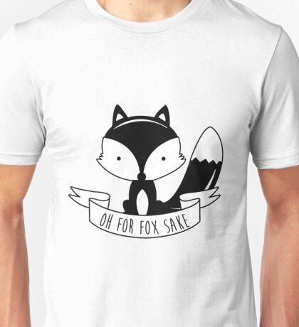 Oh For Fox Sake - Black And White Unisex T-Shirt