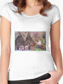 Ancient Temples  Women's Fitted Scoop T-Shirt