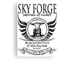 SkyForge - Where Legends Are Born In Steel Canvas Print
