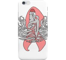 Enlisted Submariner Pin Cancer Awareness Ribbon Ver 1 iPhone Case/Skin