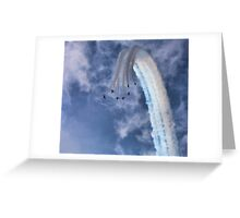 Red Arrows Vertical Break Greeting Card