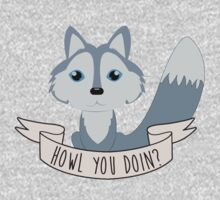 Howl you doin? Wolf One Piece - Long Sleeve