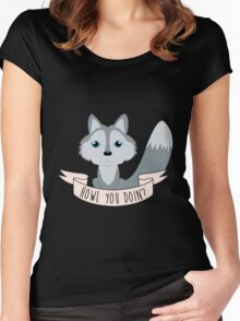 Howl you doin? Wolf Women's Fitted Scoop T-Shirt