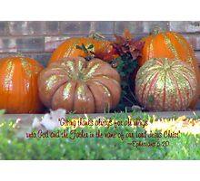 Thankfulness Photographic Print