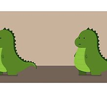 "baby t-rex says ""No."" by Aillen Joyce Abelita"