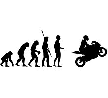 Evolution motorcycle Photographic Print