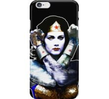 "Title: ""First Date"", Wonder Woman, Lynda Carter inspired Earth Girl, iPhone Case/Skin"