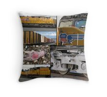 Down the Tracks They Go Throw Pillow