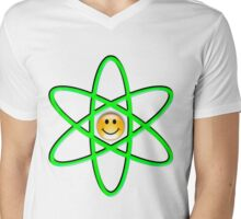 Smiley Atom Mens V-Neck T-Shirt